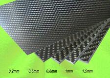 0,2 mm - 7 mm  x  350 mm x 150 mm  REINE CFK Carbon Kohlefaser Platte 1. Wahl