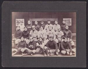 1900 Yale University Baseball Team Cabinet Photo (Full Uniform)