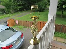 "BRASS COLOR PARTYLIGHT=Spiral Candle TEA LIGHT Holder >13.5"" TALL"