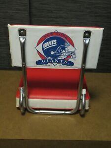 Vintage NY Giants NFL Football Portable Stadium Seat Chair