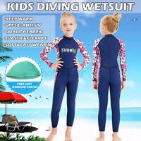 Full Length 3/2mm Wetsuit Junior Long Wet  2.5mm Kids Surf Girl Swim