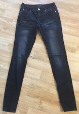 Rocawear Blue Jeans Womens Jrs 3 Dark Denim Skinny Slim SEXY Pants Embellished