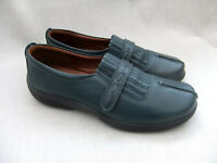 NEW HOTTER FESTIVAL WOMENS DEEP TEAL LEATHER SHOES SIZE 5.5 / 38.5 STD