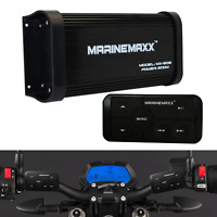 500 Watts 4 Channel Class A/B Motorcycle Marine Bluetooth Amplifier with RCA/AUX