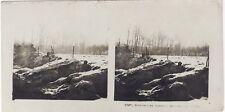 Grande Guerre Sentinelles avancées WW1 Photo Stereo Vintage Argentique