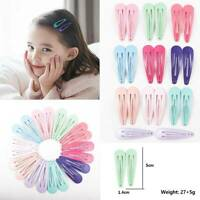 20pcs 5CM Wholesale Bulk Girls Baby Kids Hair Clips Snap Slides Close Hairpins