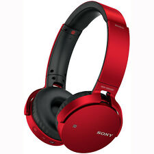 Sony MDR-XB650BT XB Series Wireless Bluetooth Headphones w/ Extra Bass - Red