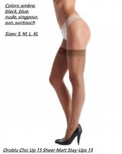 Oroblu Chic 15 Up 15 Daily thigh highs, ultra sheer,  floral lace border
