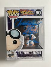 CHRISTOPHER LLOYD SIGNED BACK TO THE FUTURE FUNKO POP DR EMMETT BROWN Beckett