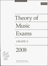 ABRSM Past Theory Of Music Exam Paper 2008 Grade 8 Sheet Music Book Shop Soiled
