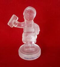 GOEBEL M.J. HUMMEL Crystal Collection 1992 Frosted Glass EILBOTE POSTMAN GERMANY