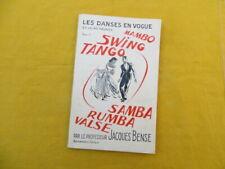 Les Danses en vogue et leurs théories - tome 1 - Jacques Bense - 1961