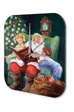 Horloge Nostalgique Décoration Noël  Livres de Père Noël pour enfants Acrylg