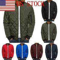 US Men's Lightweight Windproof Warm Packable Down Fashion Jacket US S-2XL EM