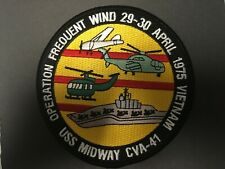 USS Midway CVA-41 1975 Vietnam Patch Full Color