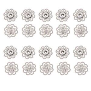 10pcs Hollow Flower Shaped Metal Snap Button Gold Color Silver Color Button