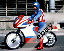 Captain America (1979) TV Show Reb Brown on motorcycle 8X10 PHOTO #1833