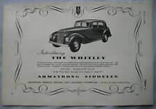 British Other British Automobile Ads 1955 Armstrong Siddeley Letterhead Coventry Marriott Brothers Sheffield Attic