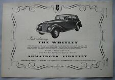 Advertising Automobiles 1955 Armstrong Siddeley Letterhead Coventry Marriott Brothers Sheffield Attic