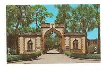 SARASOTA FL Ca D'Zan Gatehouse John Ringling Postcard