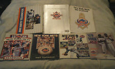 LOT OF 7 NEW YORK METS YEARBOOKS FROM 1985 THRU 1991!