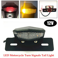 Motorcycle Modified Multifunction LED Tail Light License Plate Turn Signal Light