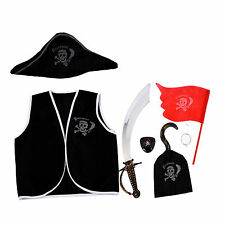 7 Pieces Pirate Makeup Set for Children Costume L6