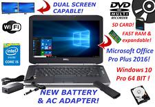 DELL LATITUDE E5420 LAPTOP WINDOWS 10 INTEL CORE i5 OFFICE 2016 HDMI BLUETOOTH