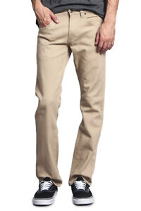 Victorious Men's Slim Fit Colored Denim Jeans Stretch Pants    GS21 - FREE SHIP