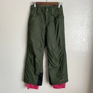 Columbia Girls Green Bugaboo Snow Ski Pants Size 10/12