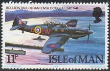 BOULTON PAUL DEFIANT Over DOUGLAS BAY / RAF Aircraft Stamp (Isle of Man 1978)