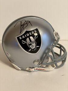 Tim Brown Hand Signed Auto Mini Helmet HOF 00 Oakland Raiders PSA Coa