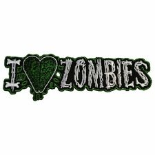 Kreepsville 666 Horror I Heart Zombies Patch Iron Gothic