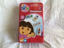 DORA THE EXPLORER Dominoes Game In Collectible Tin (2005) Nick Jr. *EUC*