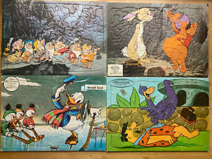 FOUR Vintage Frame Tray Puzzles