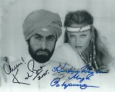 KRISTINA WAYBORN & KABIR BEDI SIGNED JAMES BOND 8x10 PHOTO - UACC RD AUTOGRAPH