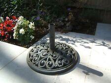 More details for attractive cast iron parasol base