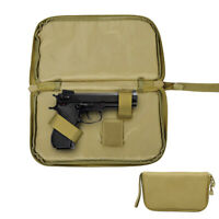 Tactical Pistol Carry Case US Army 600D Padded Handgun Pouch Tool Hunting Bag