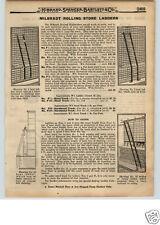1922 PAPER AD Hilbrandt Rolling Store Library Ladder Bent Straight Stepladder