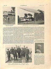 Santos-Dumont XIV Nacelle Dirigeable parc Aéro-Club Duc d'Orléans GRAVURE 1905