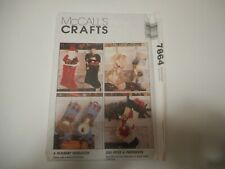 McCall's crafts sewing pattern 7864  Angel and Santa stocking