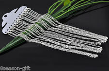 12PCs Silver Plated Lobster Claw Clasp Link Chain Necklaces Pendants 18""