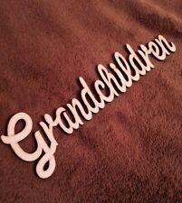 Wooden Word Plaque Grandchildren Mdf Blank