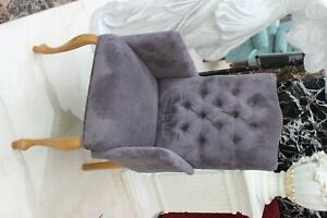 Chesterfield Armchair Chair Dining Lounge Seat Upholstered New Textile Immediate