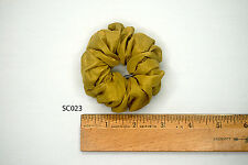 Silk Hair Scrunchies Ponytail Holder Elastic Ties Hair Band Golden Yellow SC023