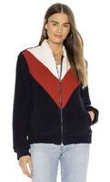 UGG Annalise Teddy Bear Jacket Red/White/Blue 1109594 Women's Sz XL MSRP $150.00