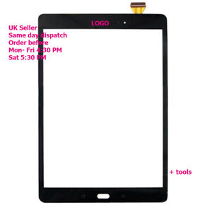 """For Samsung Galaxy Tab A 9.7"""" T550 T555 Touch Screen Digitizer Glass + Adhesive"""