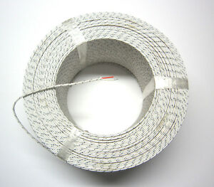 J-type Thermocouple Wire AWG 24 Solid Wire Fiberglass Insulation Extension 1 yd