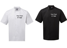 More details for chef's jacket short sleeve printed with your text / logo. high quality chefswear