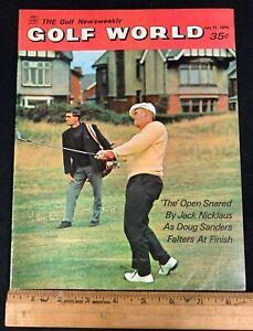 1970 JULY 21 GOLF WORLD WEEKLY NEWS GOLF MAGAZINE *JACK NICKLAUS/SANDERS*M 8520